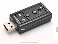 free shipping 10 pcs USB to 3D AUDIO SOUND CARD ADAPTER VIRTUAL 7.1 ch #9947