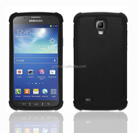 2015 New popular Three in one Shockproof Defender football pattern rubber Armour combo Case Cover For Samsung Galaxy Active S4