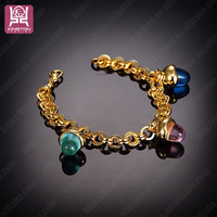 2014 new design bracelet pulsera with 3 beads for girls