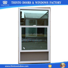 PVC frame high quality double hung window in China