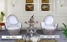 European classic tea table and chairs set