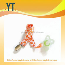 Chraming Elephants Orange Baby pacifier clip holder/pacifier clip/paciifer holder