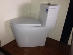 R&T fitting PP soft seat lid wc suite quieter flush ceramic toilets