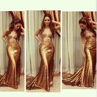 KE005 summer style shiny gold sexy long sequin mermaid Prom Dress 2015 ,arabic prom dress