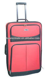 cheaper 600D poleyster luggage bag with inside trolley system