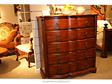Classic style chest of drawers,bedroom set ,On sale classical luxury design solid wood chest
