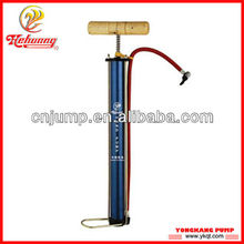 Hehuang High quality steel hand air pump with wooden handle