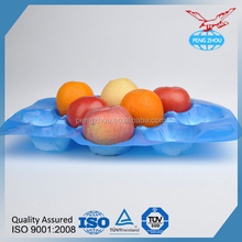Popular Exporting Blue Apple fruit Packing Rectangular Plastic Fruit Insert Tray