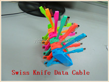 Top Selling Promotional Gift, Electronic Gifts Swiss Knife USB Data Cable for Mobile Phone