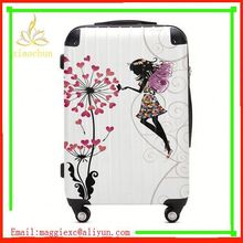 NO.385 colorful lightweight ABC+PC travel luggage
