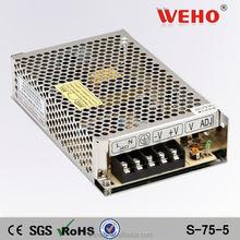 75W constant voltage led power supply 5v 12v 24v power supply