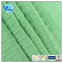 Plain Dyed Spandex / Polyester Jacquard Elastic Jersey Fabric