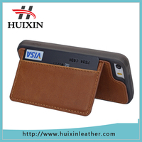 Universal smart phone wallet style genuine leather wallet phone case for iphone5