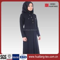 Wholesale black abaya fabric for women dress