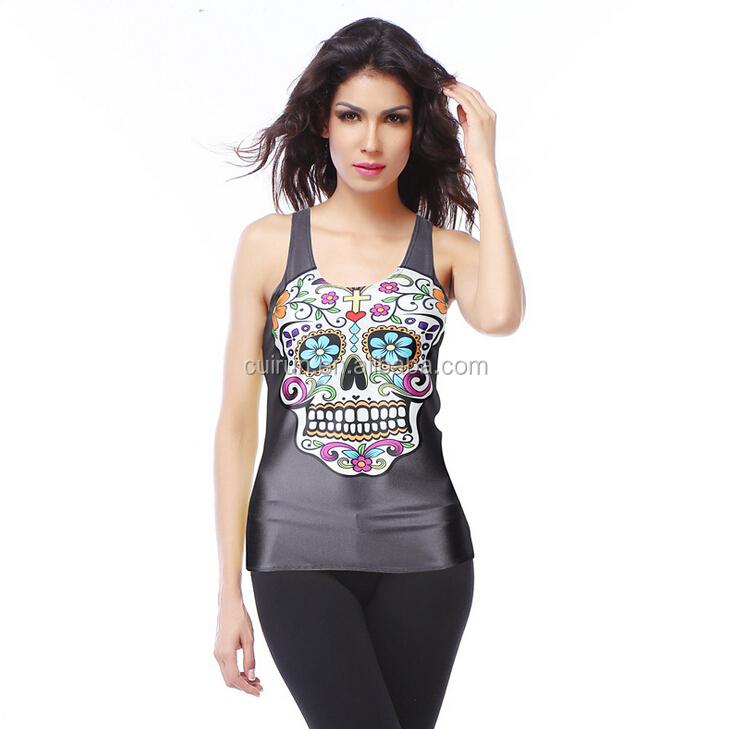 Wholesale sleeveless womens tie dye print sexy girls 3d for Tie dye sleeveless shirts