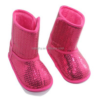 Nice Pink Sequins Breathable Slip-on Baby Boots