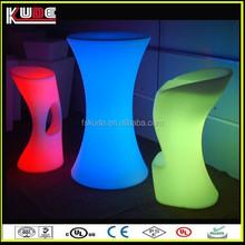 wholesale nightclub plastic LED illuminated bar furniture from China