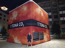 Custom 6mH full prinnting Inflatable cube 3D figure -Kocka 1 Tona Co2