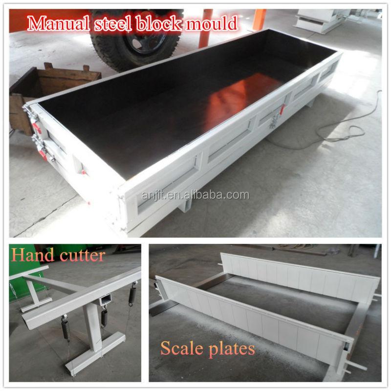 Cellular Lightweight Concrete Blocks : Cellular lightweight concrete block mold view foam