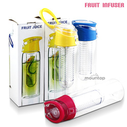 low price custom water bottle/plastic drinking bottle with fruit infusion