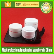 30ml Cosmetic Round Plastic Cream Jar with 38mm white Lid