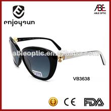 gradiente cr39 lente superior gafas de sol de acetato de gafas de niza con piezas de diamante
