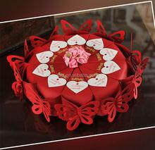 Wholesale valentines unique candy boxes red color red color