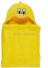 Baby Blanket Ducks/baby blanket with plush duck/hooded animal blanket for kids