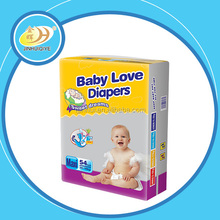 Disposable baby love diapers in bales