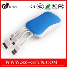 custom multi usb cable power bank newest accessories Shenzhen factory