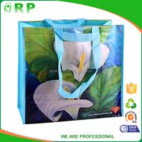 High quality pp woven laminated tote shopping bag with handles