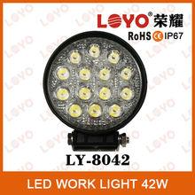 Brightness Led Work Light 42w Spot/flood Waterproof Driving Work Light Bar
