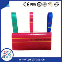 High pressure colorful custom layflat pvc hose for agriculture irrigation