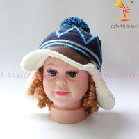 kids winter baseball hat fleece lining with ear flap