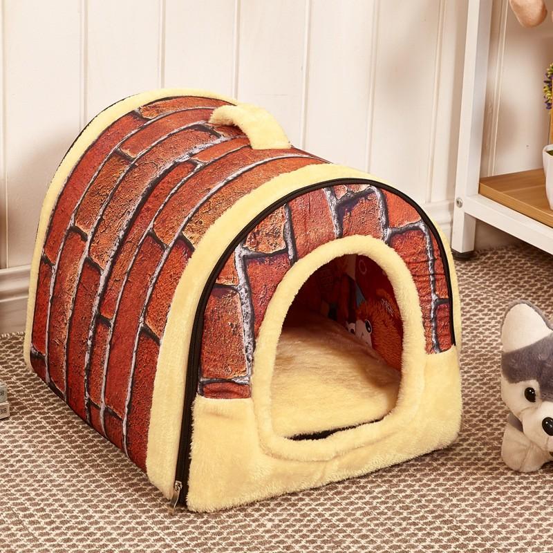 Extra Suave y Cálido Color Marrón Casa de Perro Cama Del Animal ...