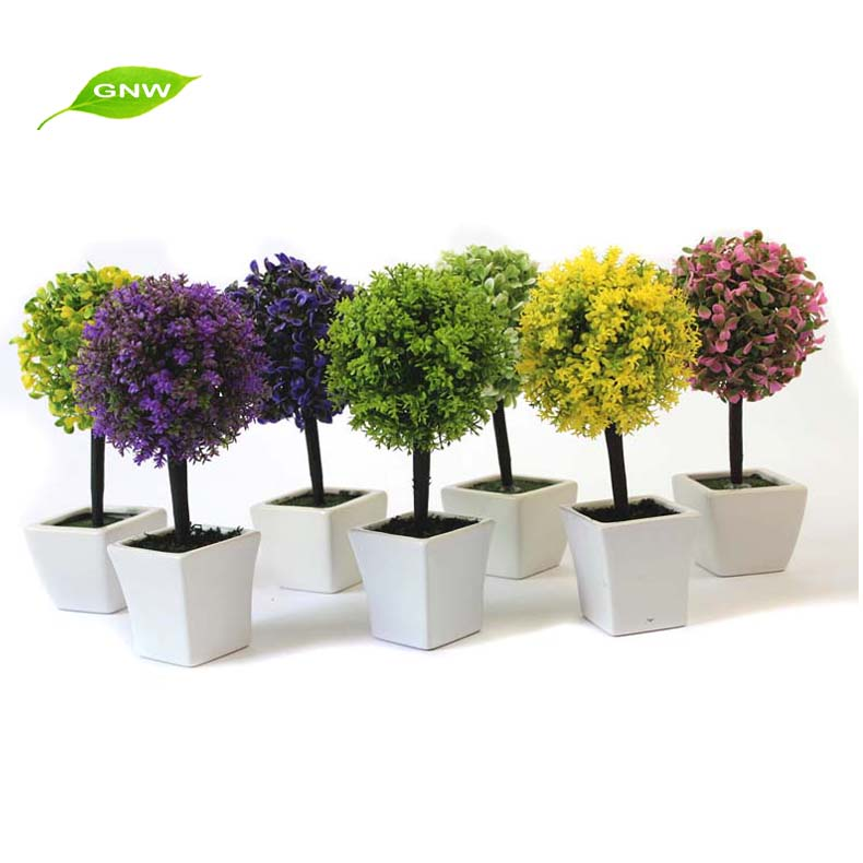 Gp008 05 Gnw Fake Plant Artificial Boxwood Ball In Plastic