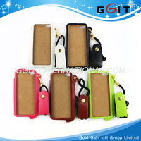 Fancy Leather Case Cover For iPhone 5 5S Case Cover With Neck Strap