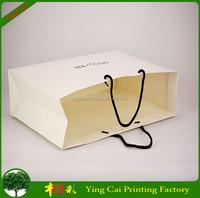 Luxury custom wholesale matt white paper bag printing YC-SY002