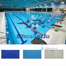 Glazed ceramic Swimming Pool Tile for competion pools 240x115mm