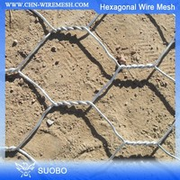 Galvanized Wire Mesh Pvc Coated Hexagonal Wire Mesh/Netting Triple Twist Hexagonal Mesh