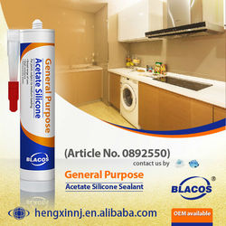 Weatherproofing, Uv Resistance Clear Acetate Curing Silicone Based Glass Glue