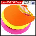 De espuma gorra visera de sol/personalizada al por mayor visera de la espuma
