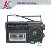 Portable cassette radio usb/sd music player