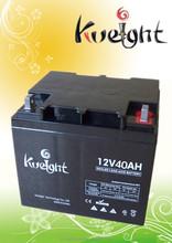 Kweight 2 years warranty 12v 40 AH GEL Battery Lead Acid Battery