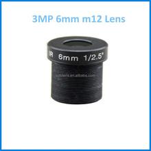 3megapixel 1/2.5'' F1.6 CCTV Lens 6mm Board Lens m12 board lens