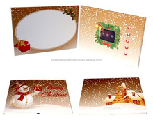 Promotional Christmas Greeting Card, Christmas Lcd Video Brochure Gift On Promotion