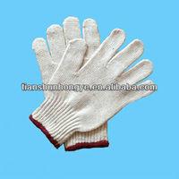 Cotton/Poly Blend 7G Knitted Gloves, Lightweight,white cotton grip gloves