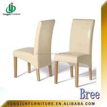 High Quality White wooden leather dining chair for restauranta,hotel and living room/YJ-057