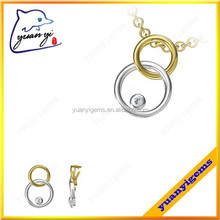 gold and silver tone custom made design pendants for boys couples jewelry pendant