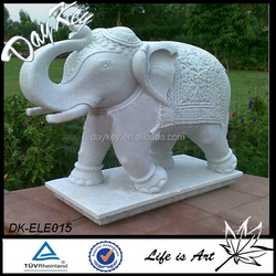 White marble elephant statue for sale